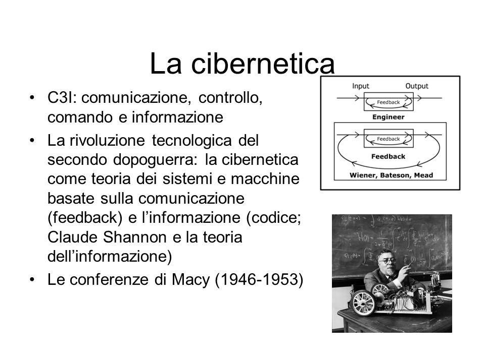 La cibernetica C3I: comunicazione, controllo, comando e informazione La rivoluzione tecnologica del secondo dopoguerra: la cibernetica come teoria dei