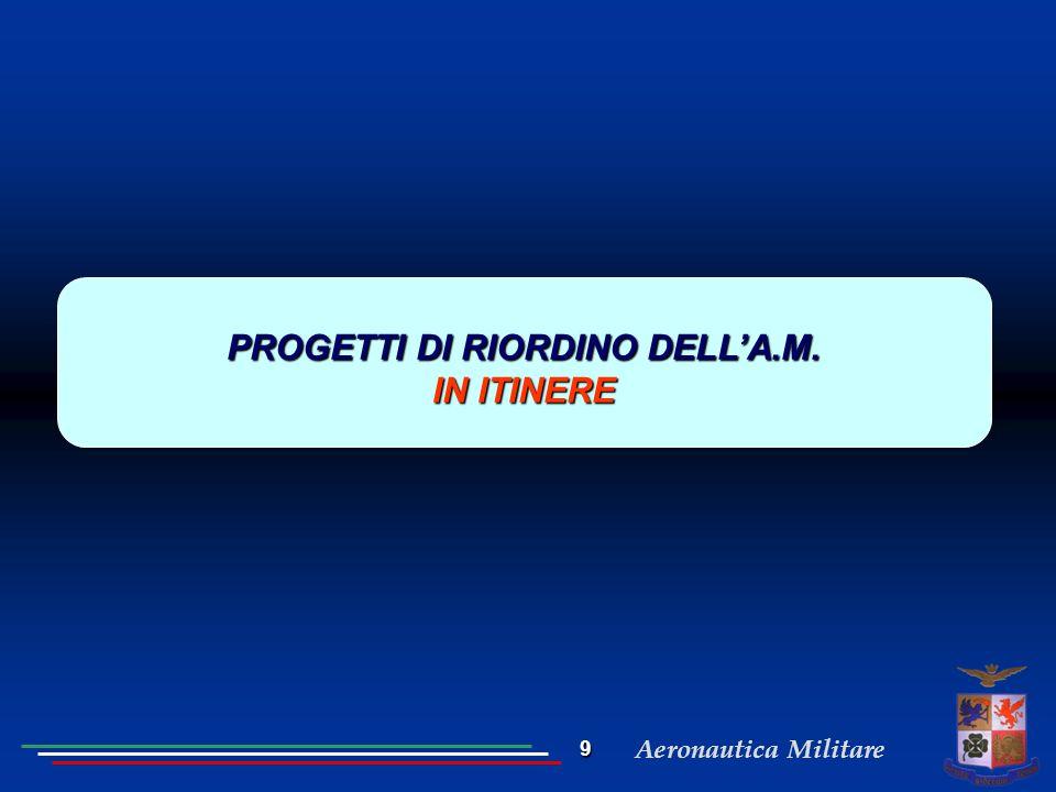 Aeronautica Militare PROGETTI DI RIORDINO DELL'A.M. IN ITINERE 9