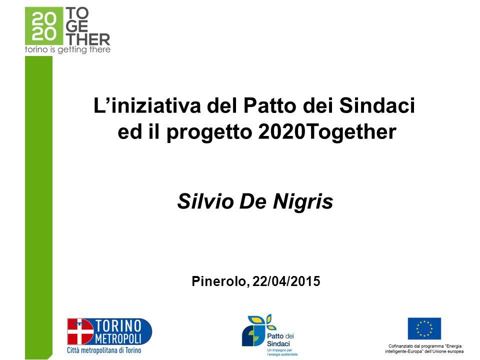 L'iniziativa del Patto dei Sindaci ed il progetto 2020Together Silvio De Nigris Pinerolo, 22/04/2015