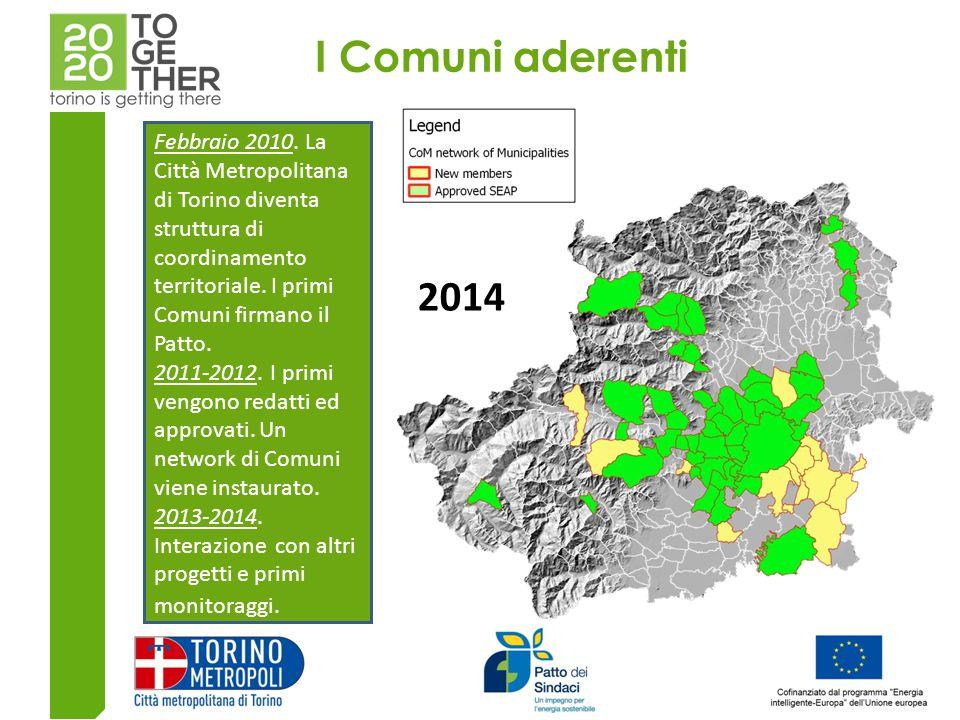 I Comuni aderenti 2010 2012 2014 Febbraio 2010.