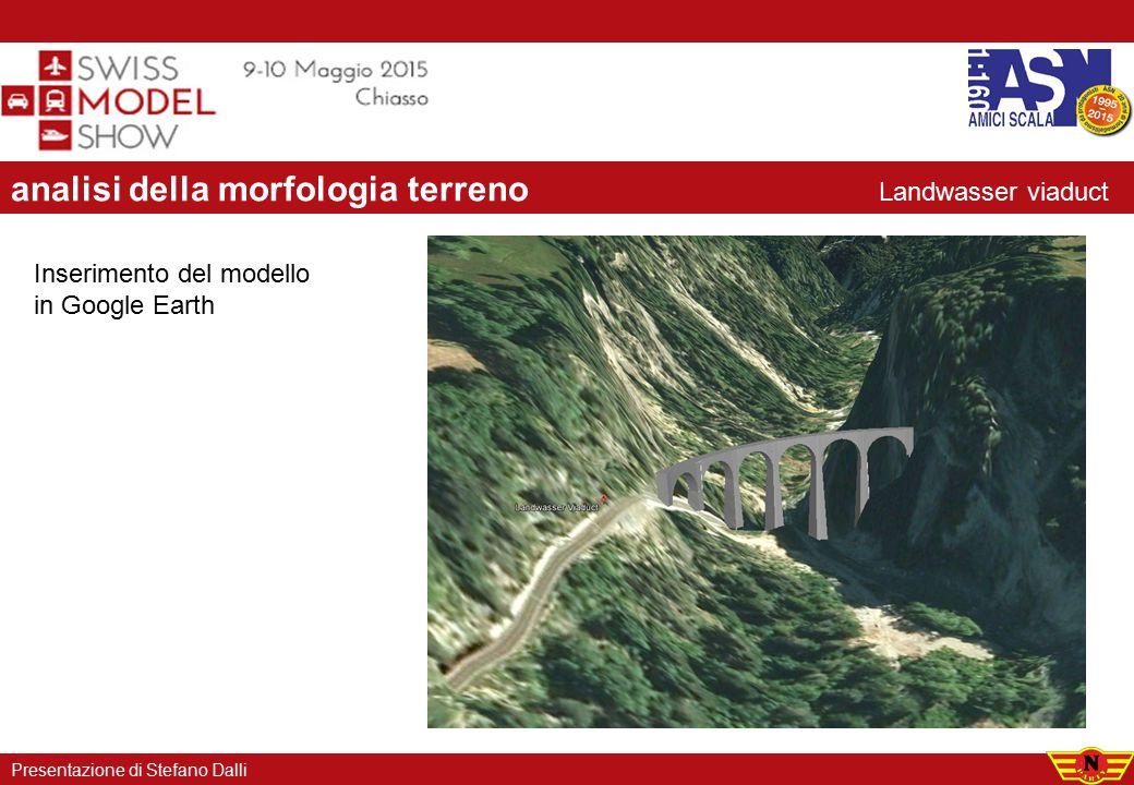analisi della morfologia terreno Presentazione di Stefano Dalli Inserimento del modello in Google Earth Landwasser viaduct