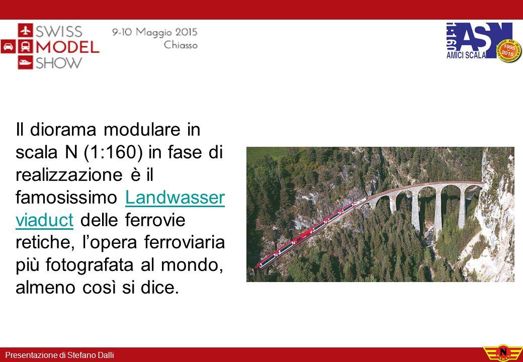 Il diorama modulare in scala N (1:160) in fase di realizzazione è il famosissimo Landwasser viaduct delle ferrovie retiche, l'opera ferroviaria più fo