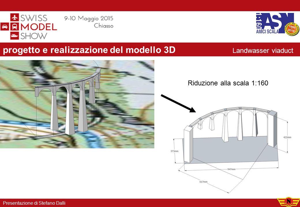 progetto e realizzazione del modello 3D Riduzione alla scala 1:160 Presentazione di Stefano Dalli Landwasser viaduct