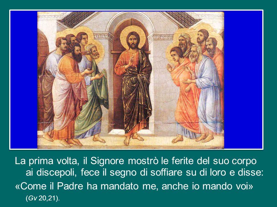Oggi è l'ottavo giorno dopo la Pasqua, e il Vangelo di Giovanni ci documenta le due apparizioni di Gesù Risorto agli Apostoli riuniti nel Cenacolo: quella della sera di Pasqua, assente Tommaso, e quella dopo otto giorni, presente Tommaso.