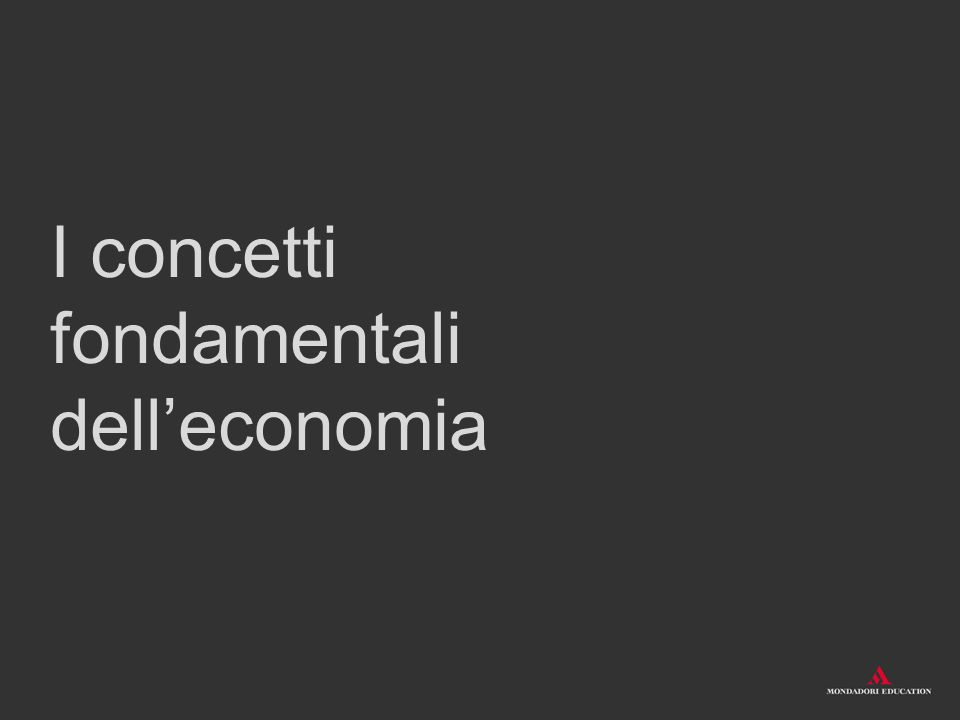 Oggetti, soggetti e rapporti economici