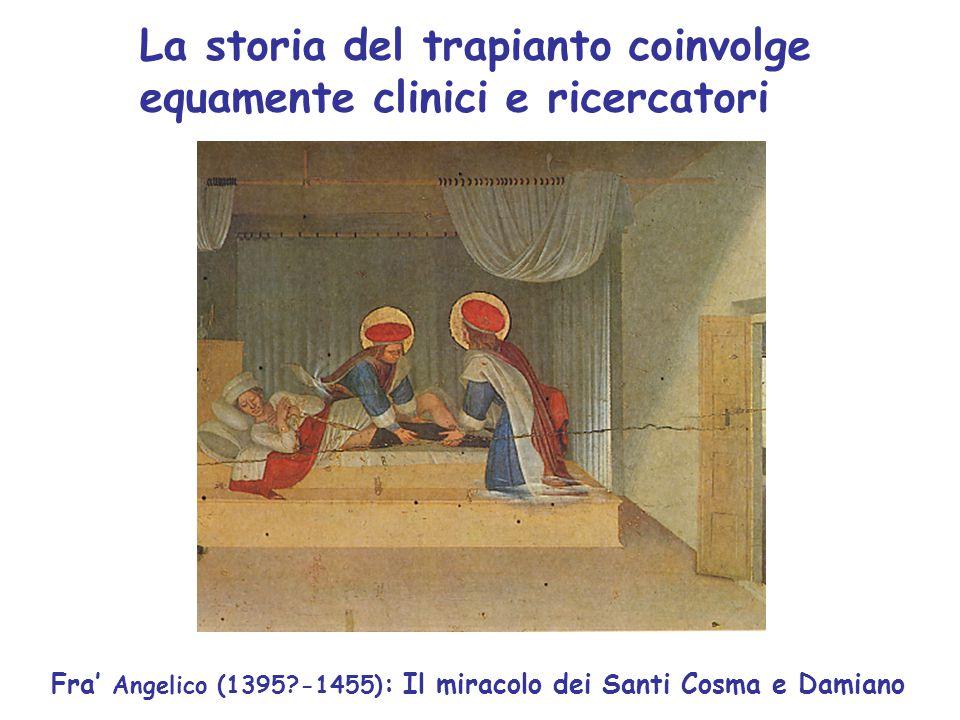 La storia del trapianto coinvolge equamente clinici e ricercatori Fra' Angelico (1395?-1455) : Il miracolo dei Santi Cosma e Damiano