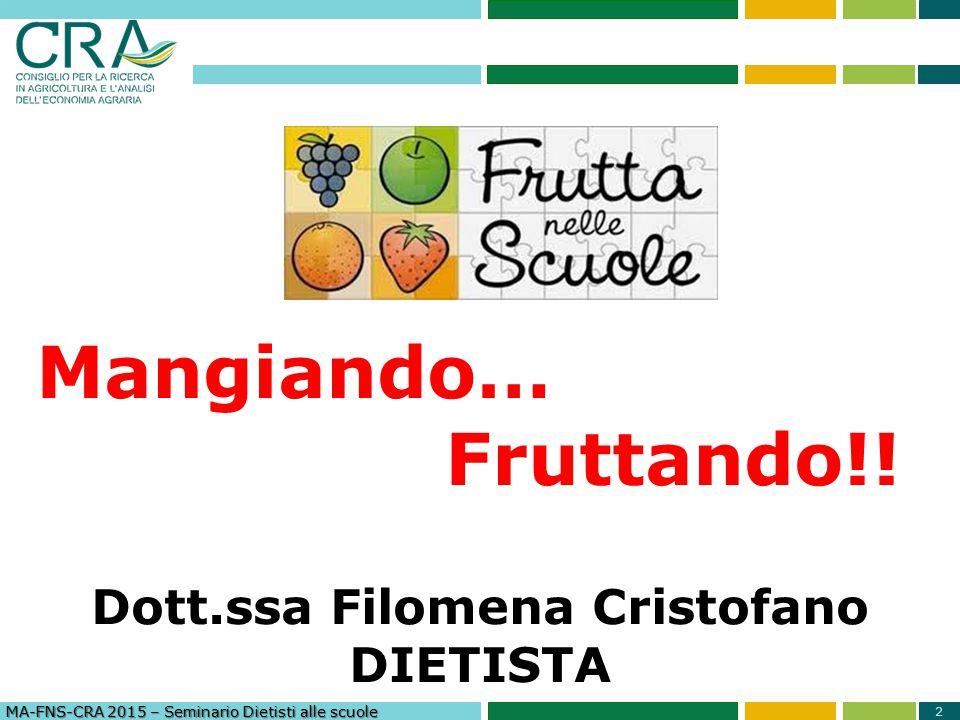 3 Mangiando … Fruttando!.