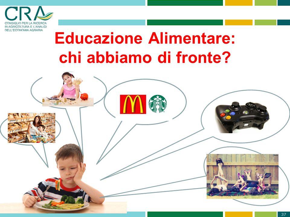 37 Educazione Alimentare: chi abbiamo di fronte?
