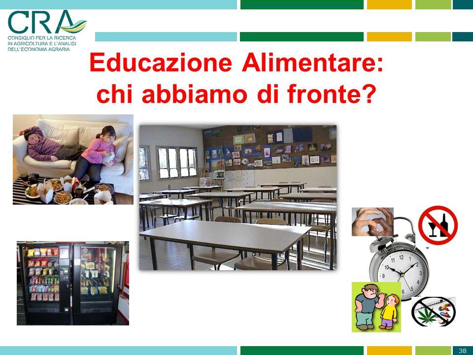 38 Educazione Alimentare: chi abbiamo di fronte?