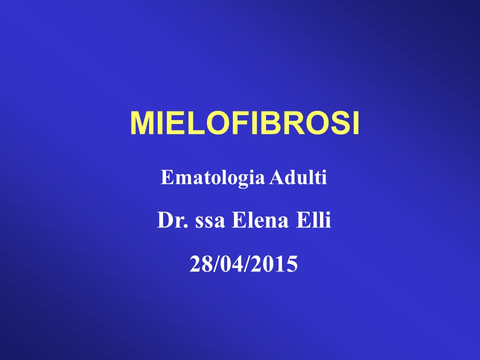 MIELOFIBROSI CRONICA IDIOPATICA (CLASSIFICAZIONE WHO 2001)