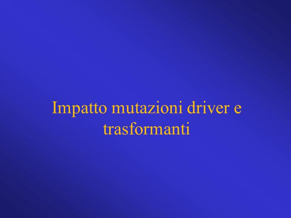 Impatto mutazioni driver e trasformanti