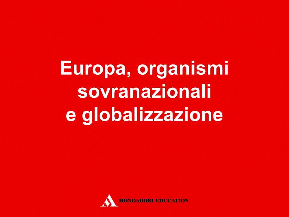 Europa, organismi sovranazionali e globalizzazione