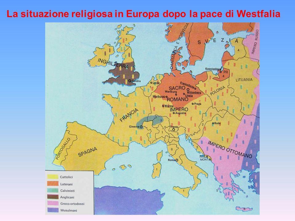 La situazione religiosa in Europa dopo la pace di Westfalia