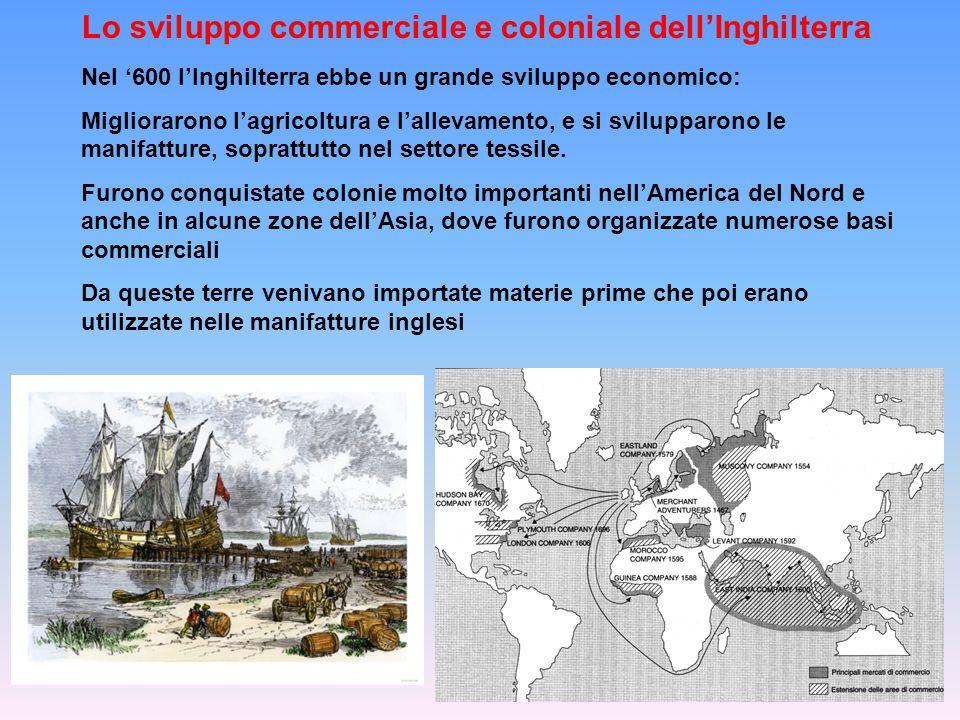 Un ruolo molto importante nello sviluppo del commercio inglese lo ebbero le compagnie commerciali di navigazione.