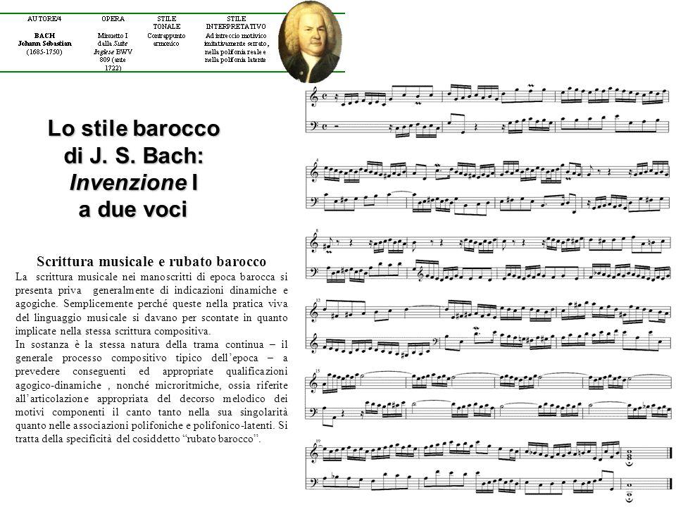 Scrittura musicale e rubato barocco La scrittura musicale nei manoscritti di epoca barocca si presenta priva generalmente di indicazioni dinamiche e agogiche.