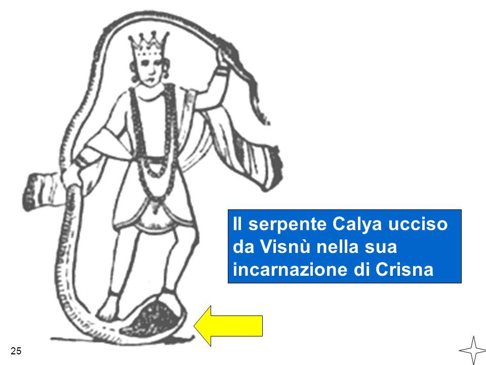 Il serpente Calya ucciso da Visnù nella sua incarnazione di Crisna 25