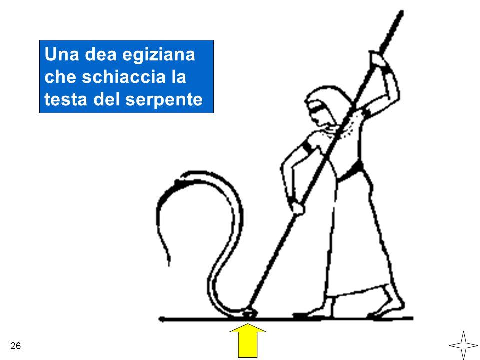 Una dea egiziana che schiaccia la testa del serpente 26