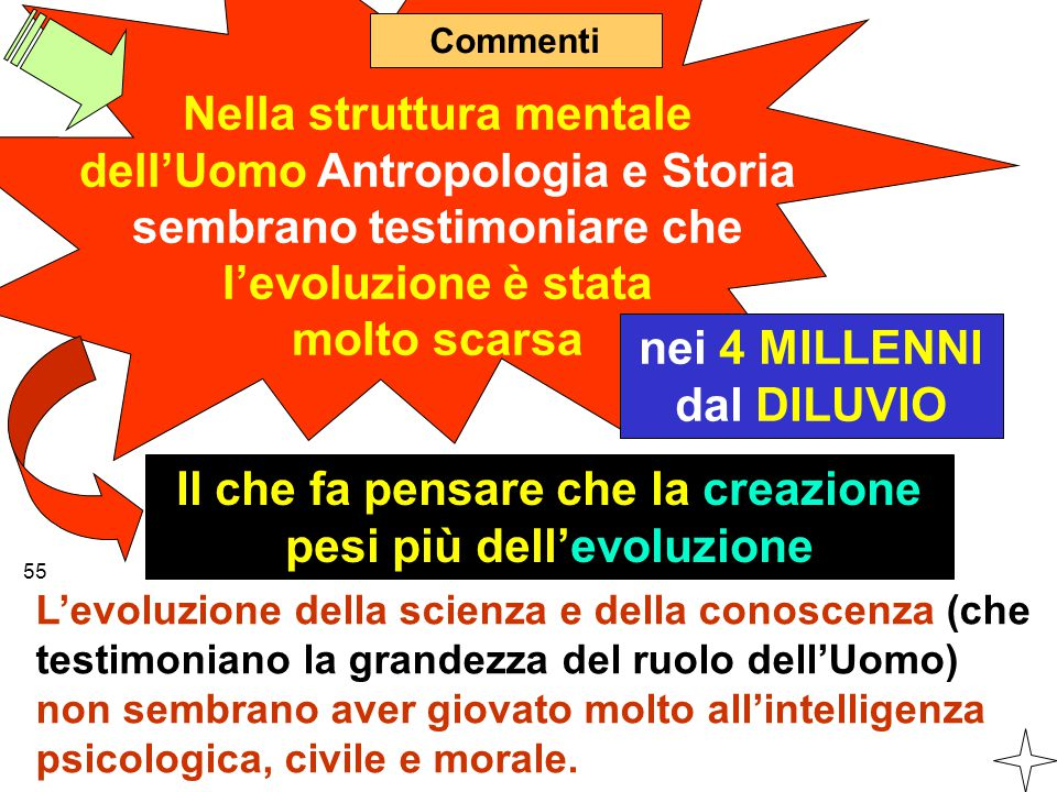 Commenti Nella struttura mentale dell'Uomo Antropologia e Storia sembrano testimoniare che l'evoluzione è stata molto scarsa Il che fa pensare che la