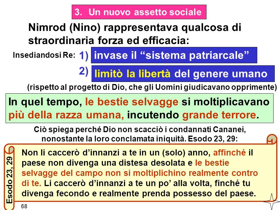 """Nimrod (Nino) rappresentava qualcosa di straordinaria forza ed efficacia: Insediandosi Re: invase il """"sistema patriarcale"""" limitò la libertà del gener"""