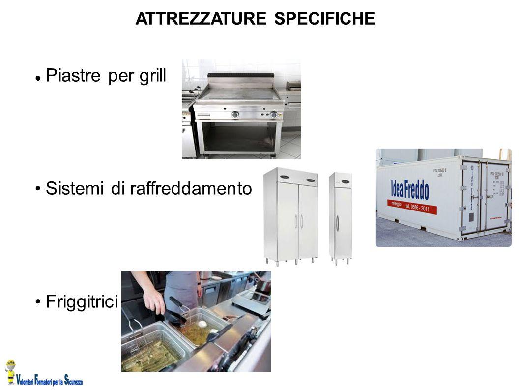 ATTREZZATURE SPECIFICHE Piastre per grill Sistemi di raffreddamento Friggitrici