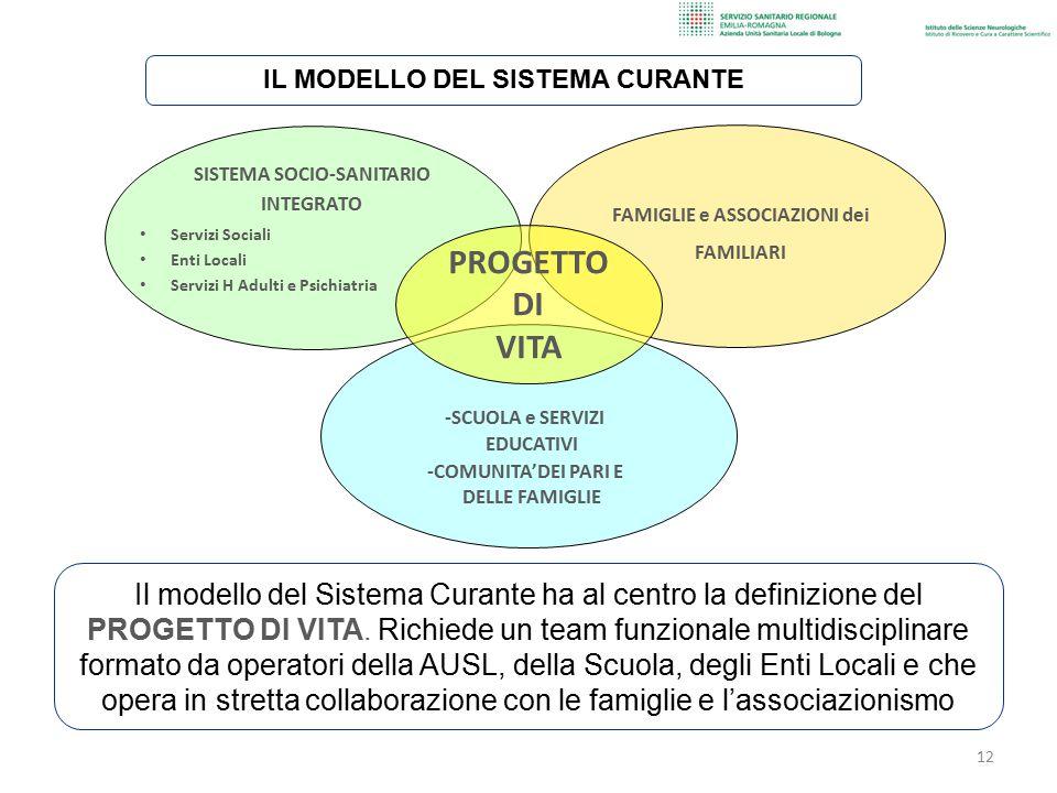 SISTEMA SOCIO-SANITARIO INTEGRATO Servizi Sociali Enti Locali Servizi H Adulti e Psichiatria FAMIGLIE e ASSOCIAZIONI dei FAMILIARI -SCUOLA e SERVIZI E