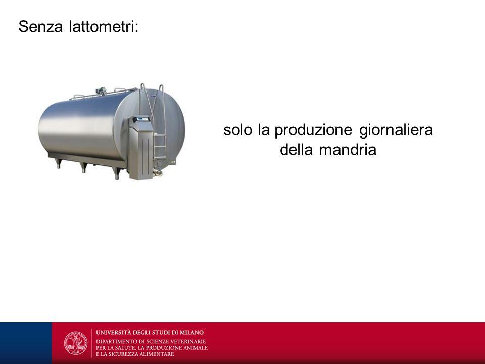 Senza lattometri: solo la produzione giornaliera della mandria