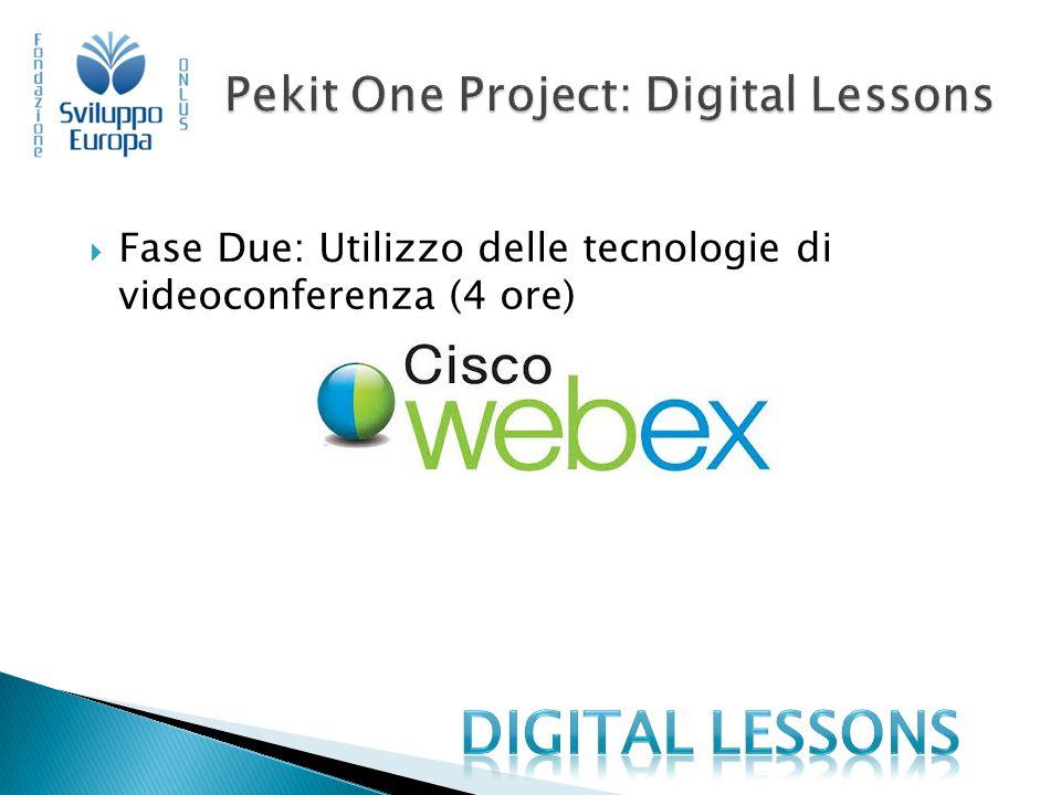  Fase Due: Utilizzo delle tecnologie di videoconferenza (4 ore)