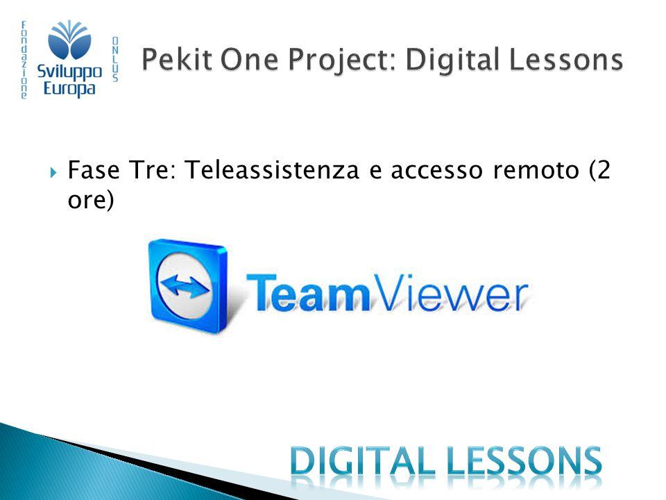  Fase Tre: Teleassistenza e accesso remoto (2 ore)