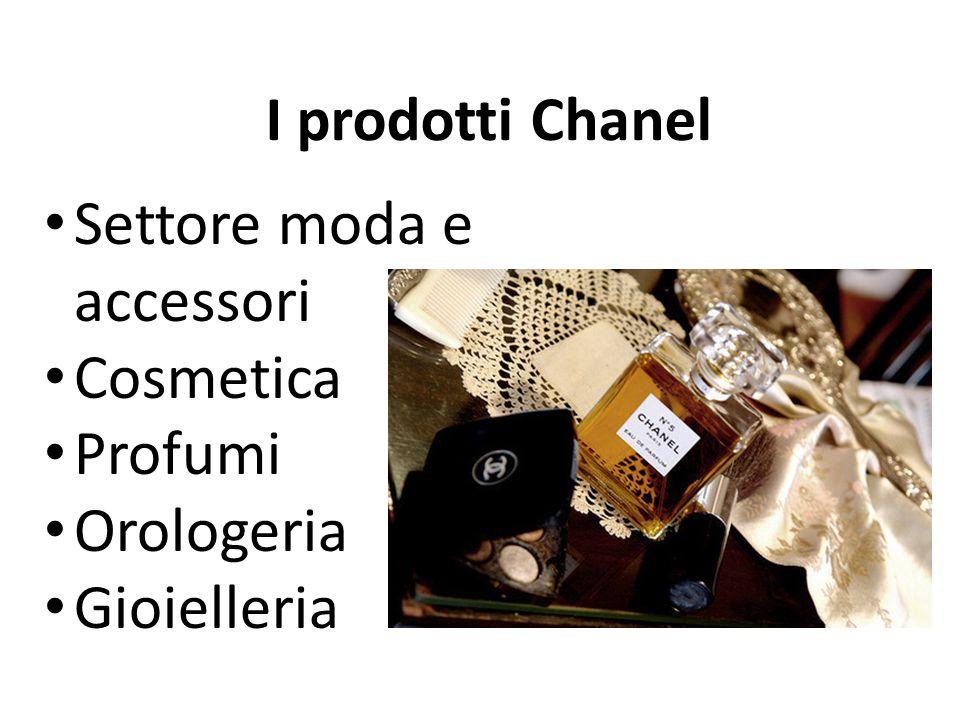 I prodotti Chanel Settore moda e accessori Cosmetica Profumi Orologeria Gioielleria