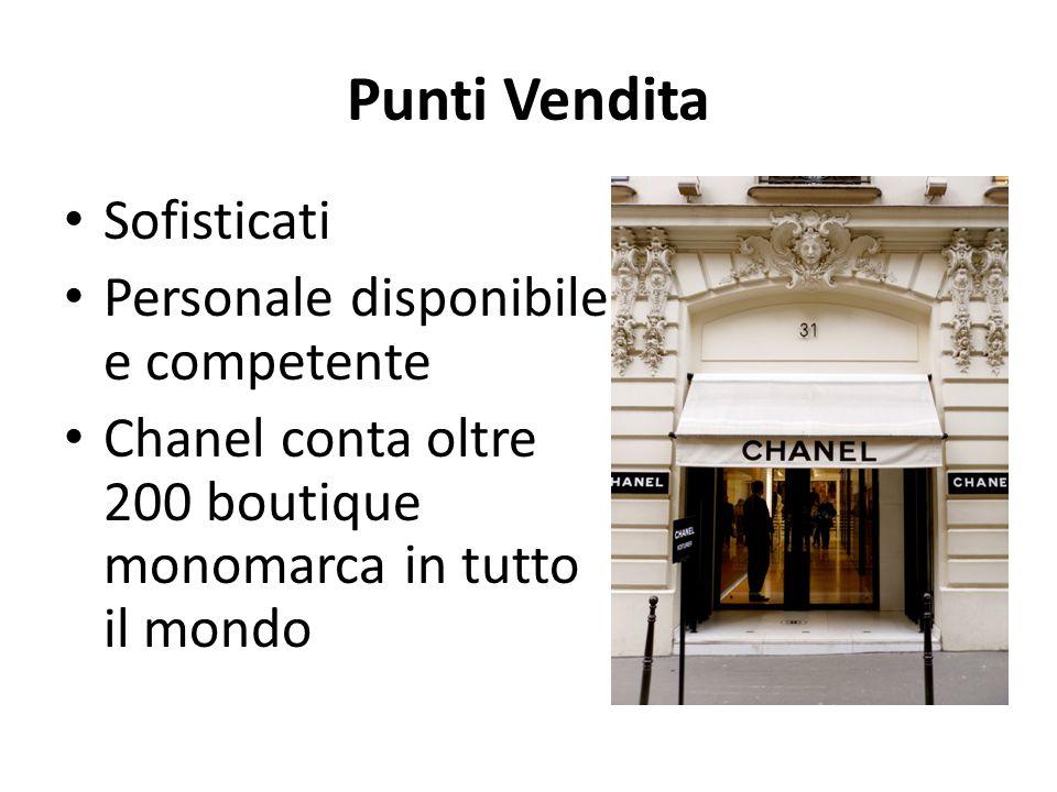 Punti Vendita Sofisticati Personale disponibile e competente Chanel conta oltre 200 boutique monomarca in tutto il mondo