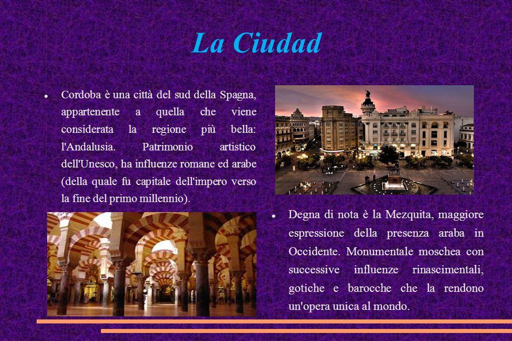 La Ciudad Cordoba è una città del sud della Spagna, appartenente a quella che viene considerata la regione più bella: l'Andalusia. Patrimonio artistic