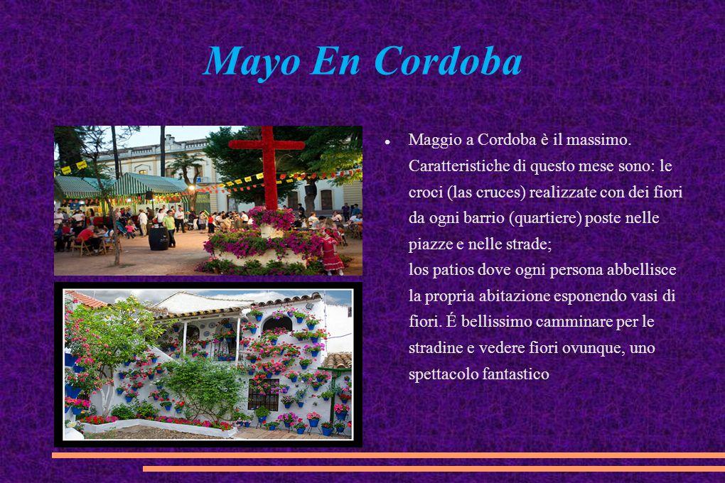 Mayo En Cordoba Maggio a Cordoba è il massimo. Caratteristiche di questo mese sono: le croci (las cruces) realizzate con dei fiori da ogni barrio (qua