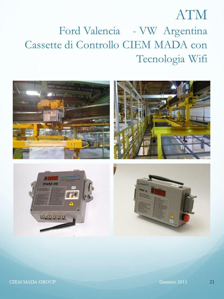 ATM Ford Valencia - VW Argentina Cassette di Controllo CIEM MADA con Tecnologia Wifi Gennaio 2015CIEM MADA GROUP21