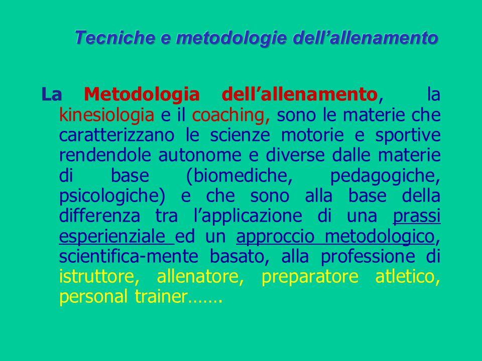 La Metodologia dell'allenamento, la kinesiologia e il coaching, sono le materie che caratterizzano le scienze motorie e sportive rendendole autonome e