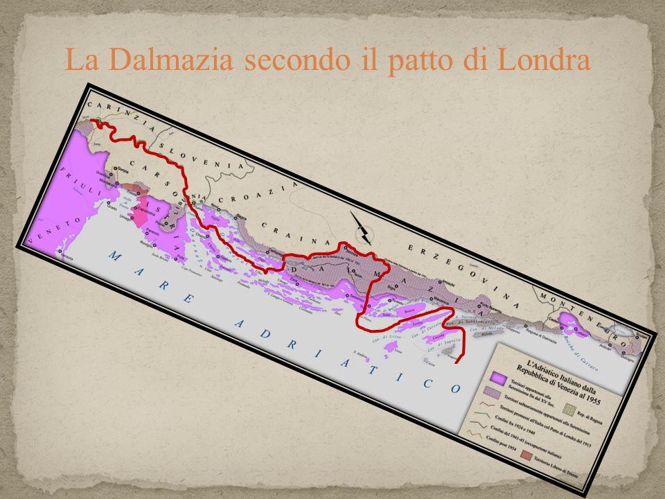 La Dalmazia secondo il patto di Londra