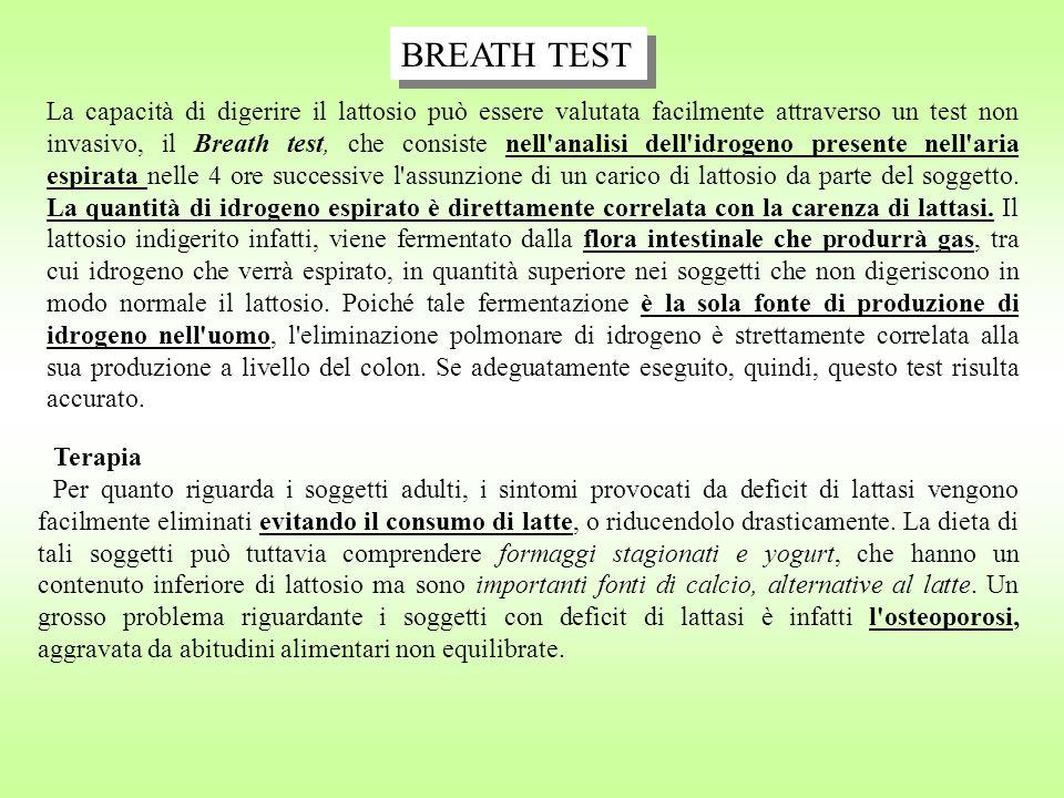 La capacità di digerire il lattosio può essere valutata facilmente attraverso un test non invasivo, il Breath test, che consiste nell'analisi dell'idr