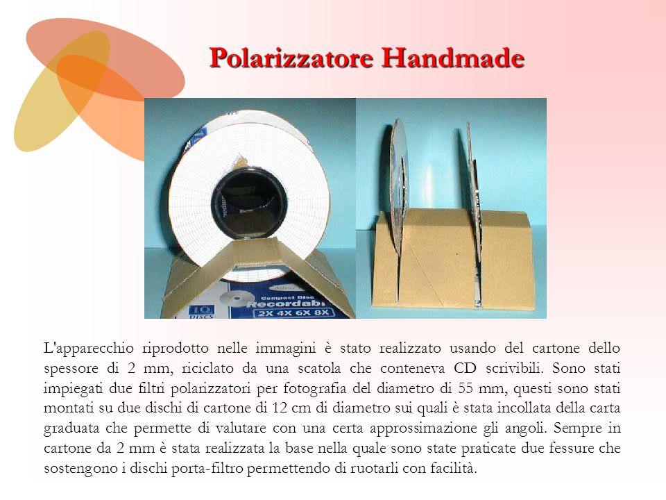 Polarizzatore Handmade L'apparecchio riprodotto nelle immagini è stato realizzato usando del cartone dello spessore di 2 mm, riciclato da una scatola