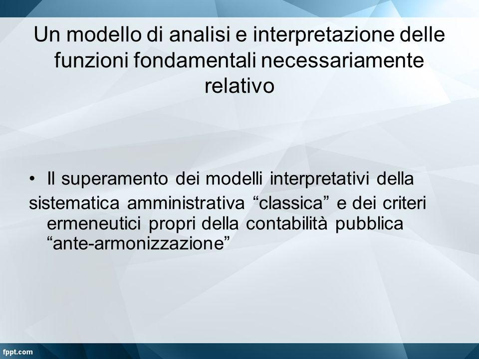 Un modello di analisi e interpretazione delle funzioni fondamentali necessariamente relativo Il superamento dei modelli interpretativi della sistemati