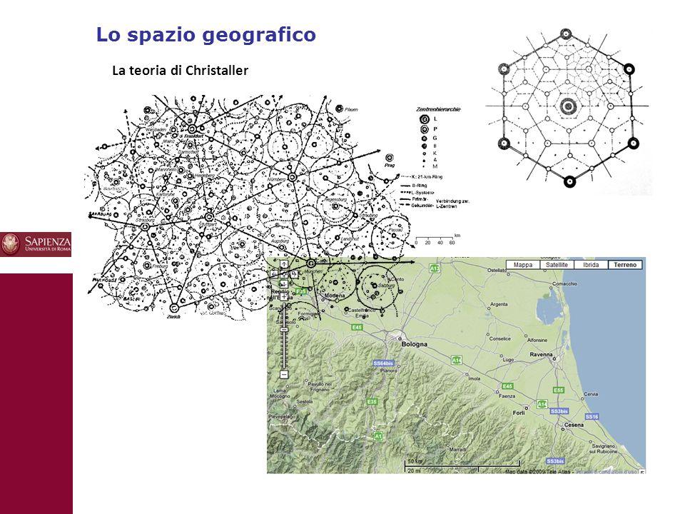 Lo spazio geografico 10 La teoria di Christaller