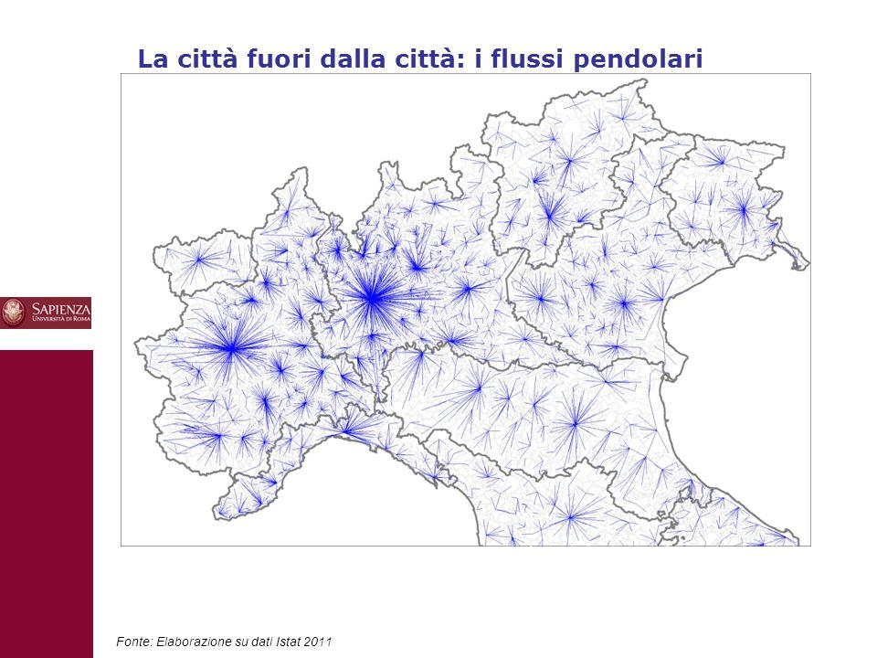 10 Fonte: Elaborazione su dati Istat 2011 La città fuori dalla città: i flussi pendolari