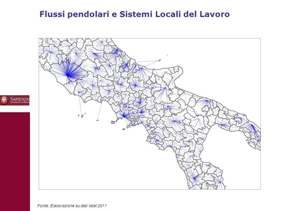 Flussi pendolari e Sistemi Locali del Lavoro 10 Fonte: Elaborazione su dati Istat 2011
