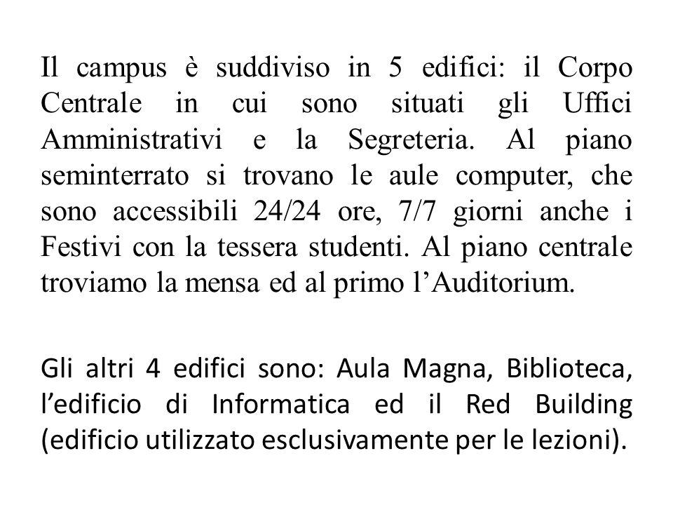 Esami Sia per Bachelor sia Master i corsi sono tenuti sia in italiano sia in inglese.