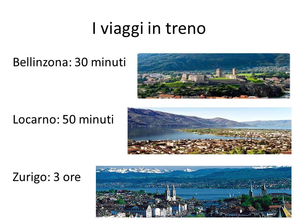 I viaggi in treno Bellinzona: 30 minuti Locarno: 50 minuti Zurigo: 3 ore
