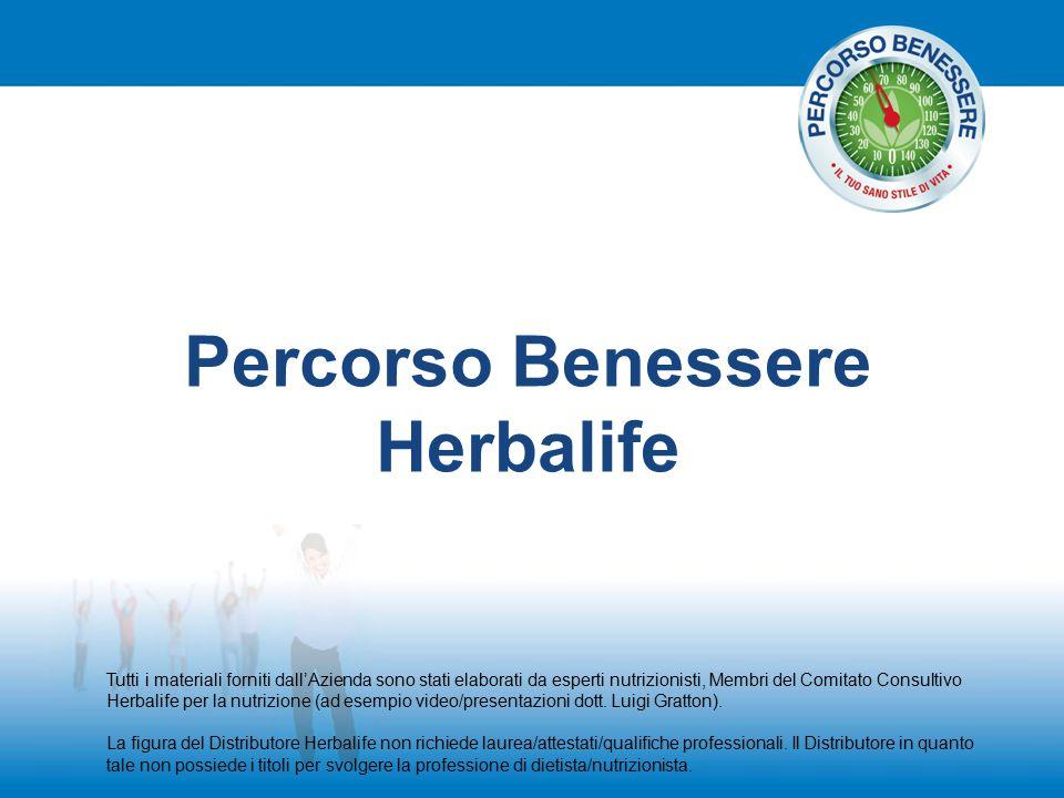 Percorso Benessere Herbalife Tutti i materiali forniti dall'Azienda sono stati elaborati da esperti nutrizionisti, Membri del Comitato Consultivo Herb