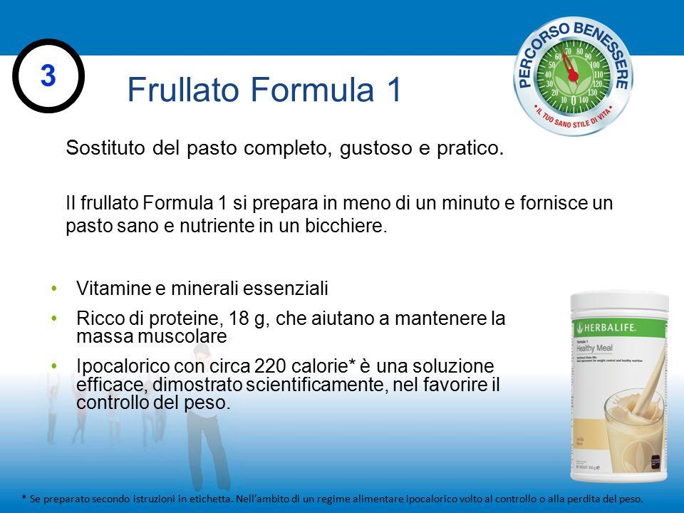 Frullato Formula 1 * Se preparato secondo istruzioni in etichetta. Nell'ambito di un regime alimentare ipocalorico volto al controllo o alla perdita d