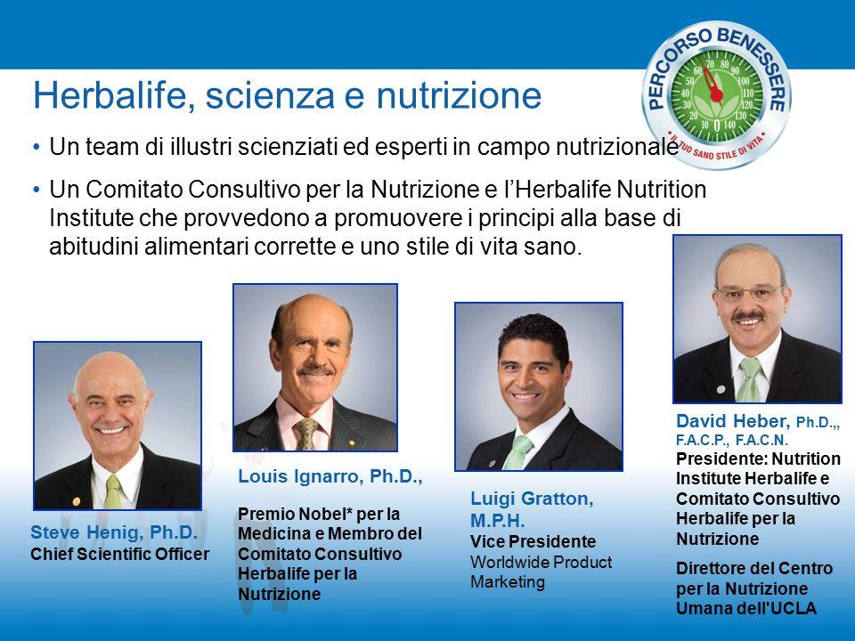 Un team di illustri scienziati ed esperti in campo nutrizionale Un Comitato Consultivo per la Nutrizione e l'Herbalife Nutrition Institute che provved