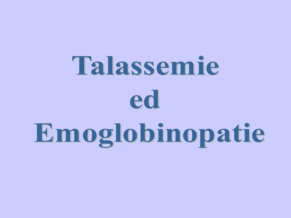 Per emoglobinopatie si intendono quelle condizioni morbose, caratterizzate da un'alterazione strutturale ereditaria di una delle catene globiniche: le anomalie cliniche associate derivano dalle proprietà fisiche dell'emoglobina abnorme.