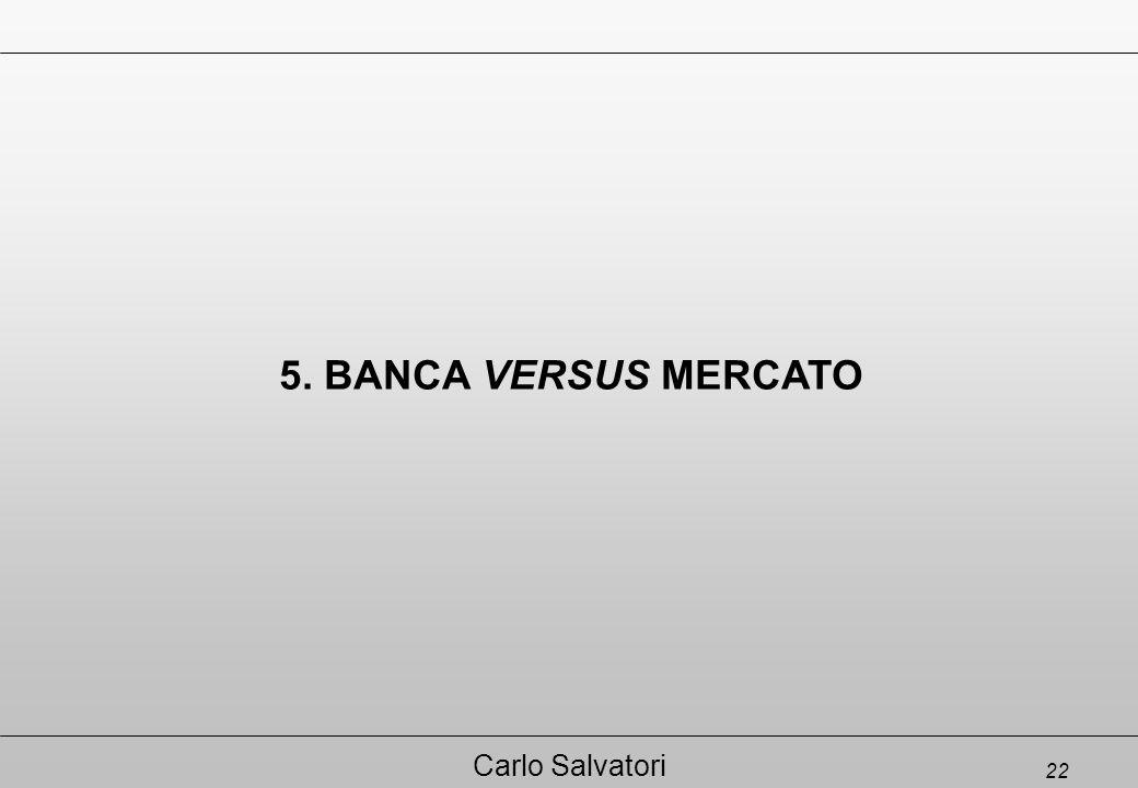 22 Carlo Salvatori 5. BANCA VERSUS MERCATO