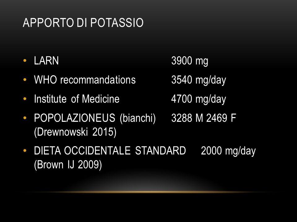 CIBI AD ALTO/ALTISSIMO CONTENUTO DI OSSALATO (NUTRITION DEPARTMENT OF HARVARD SCHOOL OF PUBLIC HEALTH) > 200 mg/porzione Rabarbaro Spinaci > 50 mg/porzione Barbabietole, Hibiscus esculentus (okra, gombo,bamia), Patate Fagioli cannellini Mandorle, Cacao