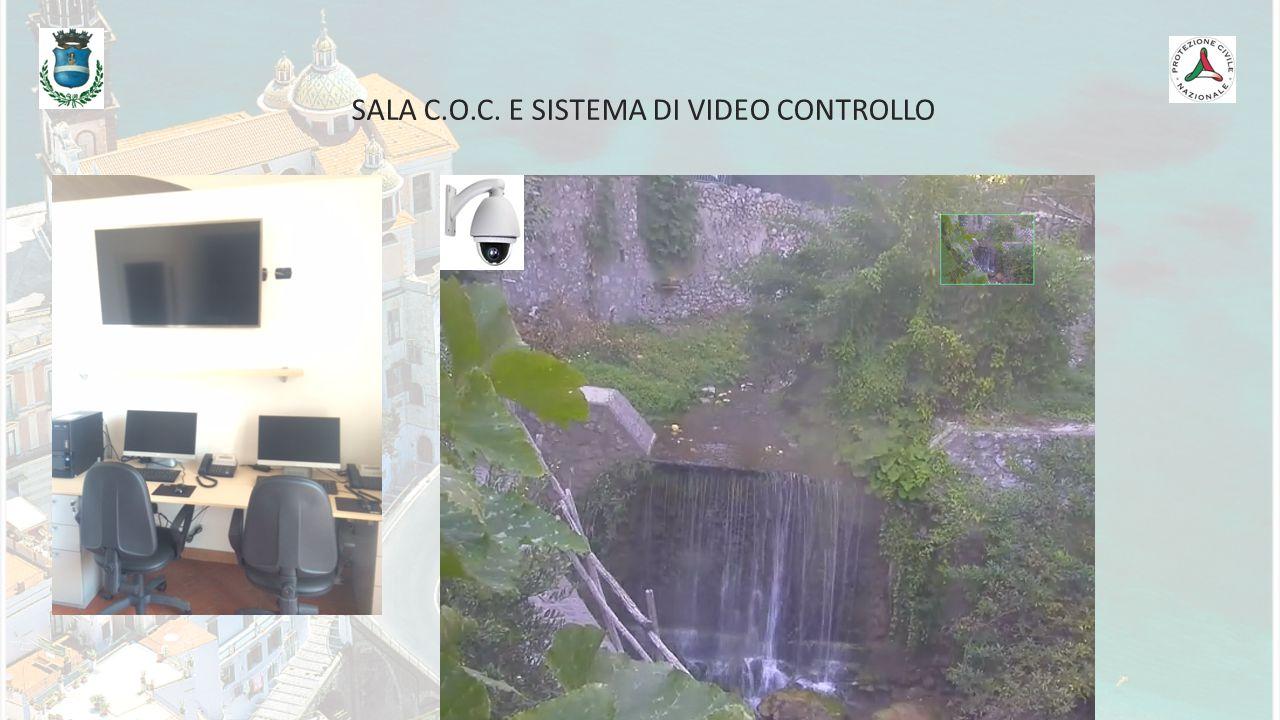 SALA C.O.C. E SISTEMA DI VIDEO CONTROLLO